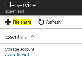 azure file storage shares