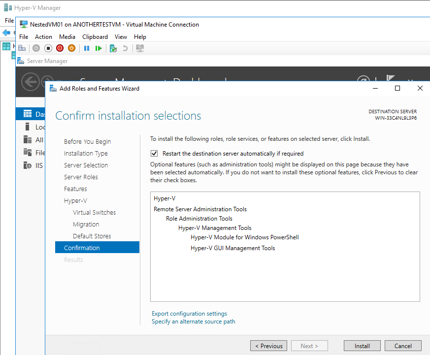 VM in Nested VM in Azure VM